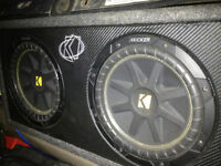 "2-10"" kicker subs/kicker ported box/kicker amp!"
