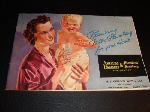 Circa 1939 American Standard Plumbing Fixtures Color Catalog