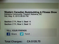 FOR SALE - Tickets for Bodybuilding & Fitness Show