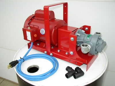 New Redline 1hp 20gpm Wastebulk Oil Transfer Pumpheatersburnerfree Shipping