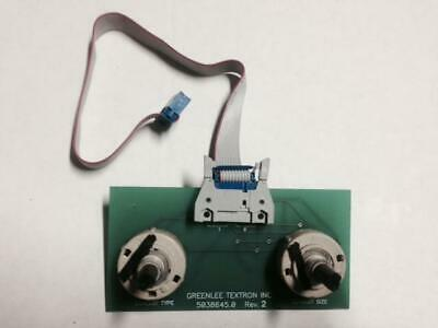 New Selector Switch Circuit Board For A Greenlee 855 Connector Wire No Knobs