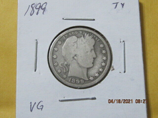 1899 BARBBER /LIBERTY 90%SILVER QUARTER U S SHIPPING ONLY