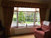 Handmade Large Moygashel fabric 3 sets of curtains
