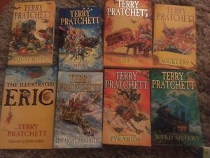Assorted Terry Pratchett books for sale $4.00 each