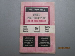 1967 Pontiac Owner Protection Plan Booklet  -  GM