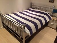 Double metal bed frame and matress