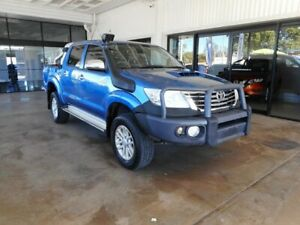 2013 Toyota Hilux KUN26R MY14 SR5 Double Cab Blue 5 Speed Manual Utility Menzies Mt Isa City Preview