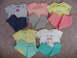 Carter's 10 Piece Clothing Lot, Baby Girl Size 3 Months