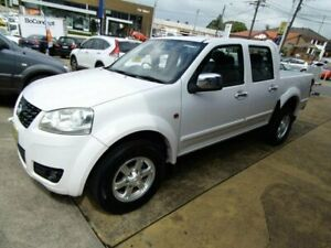 2011 Great Wall V200 K2 (4x4) White 6 Speed Manual Dual Cab Utility Five Dock Canada Bay Area Preview