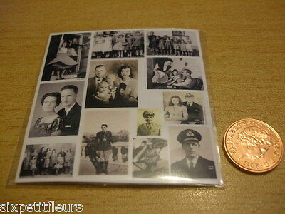 Miniature 50s wartime vintage photographs KIT 1:12th 1:24th scale dolls house DH