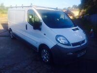Vauxhall Vivaro LWB with roofrack Good Running Diesel cheap van like trafic transit