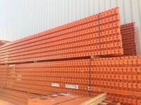 Used Redirack Warehouse Racking - Pallet Racking - 16 bays 5m H x 900mm D 2.7m W x 3 Levels