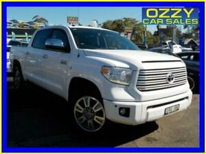 2015 Toyota Tundra DTS GEN 2 Platinum White 6SPD AUTOMATIC 4X4 Dual Cab Pick-up