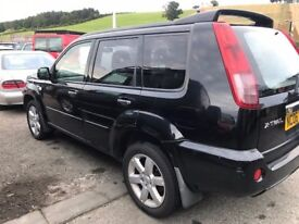 4X4 NISSAN X-TRAIL 2.2 DCI TURBO DIESEL,AIRCONDITION ,SATNAV , 6 SPEED LONG MOT CHEAP P/EX WELCOME