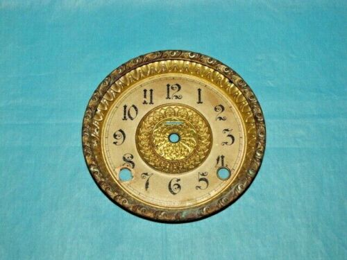 Antique Ingraham Mantle Clock Dial and Bezel