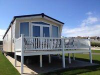 Luxury Gold Caravan for Hire, Elm Bank Coastal Park, Spittal, Berwick-upon-Tweed
