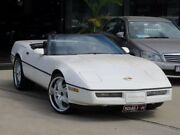 1988 Chevrolet Corvette C4 Oryx White Mother Of Pearl Convertible Seaford Frankston Area Preview