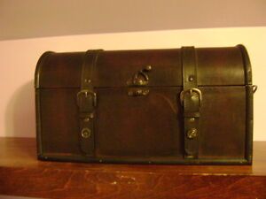 Brown Leather Chest
