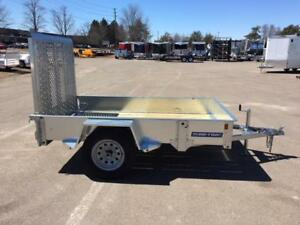 NEW 2018 SURE-TRAC 5' x 8' GALVANIZED UTILITY TRAILER