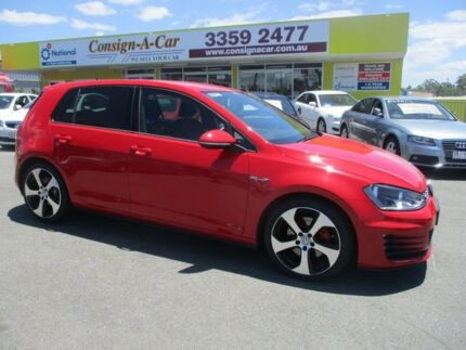 2013 Volkswagen Golf VII MY14 GTI DSG Red 6 Speed Sports Automatic Dual Clutch Hatchback Kedron Brisbane North East Preview