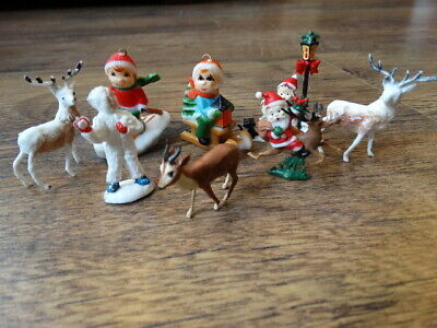 VINTAGE SELECTION OF CHRISTMAS SMALL FIGURES 1950's / 1960's