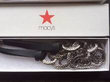 Macy's Silver & Black Necklace from New York Ferryden Park Port Adelaide Area Preview
