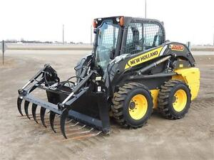 """72"""" HLA Manure Fork With Utility Grapple for Skid Steers"""