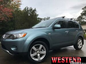 2007 Mitsubishi Outlander ZG MY07 XLS Blue 6 Speed Continuous Variable Wagon Lisarow Gosford Area Preview