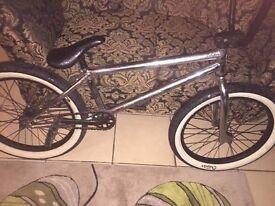BMX custom bike in chrome