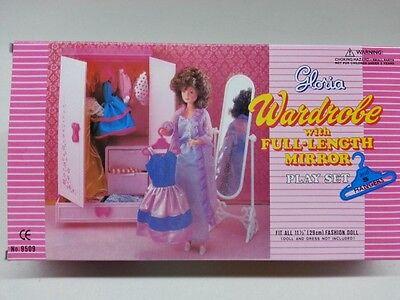 Gloria Wardrobe Closet Cabinet (9509) For Doll Furniture