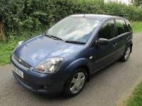 2006 FORD FIESTA 1.4 TD DIESEL ZETEC CLIMATE 5 DOOR BLUE £30 ROAD TAX!!!