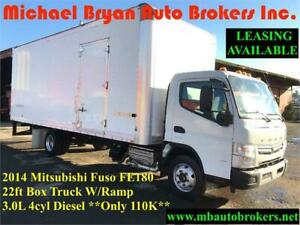 2014 MITSUBISHI FUSO FE180 - 22FT BOX TRUCK W/RAMP *VERY RARE*