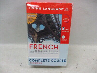 Living Language French The Basics Complete Course Book 4 CDs Dictionary (JH) French Dictionary Book