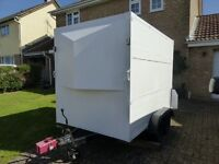 Box trailer Can fit in Garage Double Axel Braked Ramp Tow lock Roller Shutter Internal led light