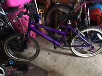 Girls Bike Purple Age 7-10 Aprx