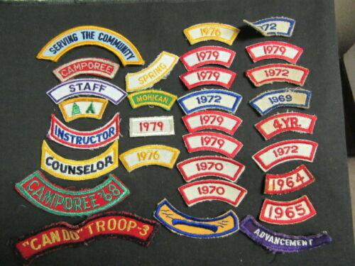 Boy Scout Patch Segments Lot of 30      cov3