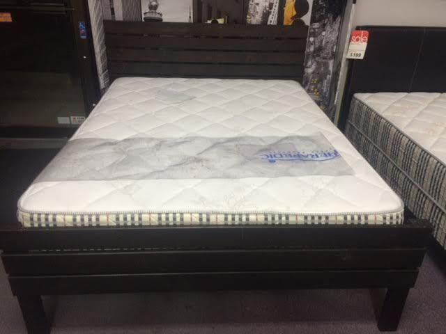 brand new solid wood canadian made queen beds on sale