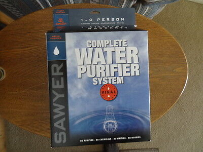 Sawyer SP194 4-Liter water filter purifier Removes viruses bag to bag New In Box