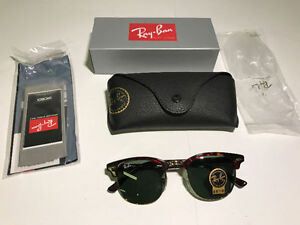 RAY-BAN CLUBMASTER CLASSIC SUNGLASSES (49MM & 51MM LENS) - MNX