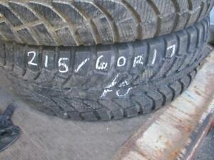 215/60 R17 GT RADIAL CHAMPIRO ICE PRO WINTER TIRES USED SNOW TIRE ) APPROX. 85% TREAD