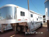 Exiss 3 Horse with 10'Short wall Living quarters all aluminum