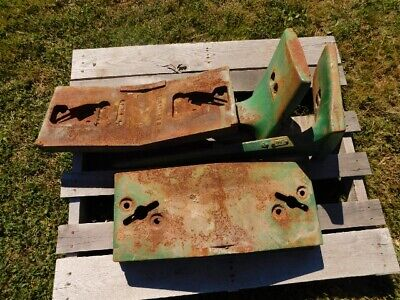 John Deere 1020 Series Tractor Front Brackets 3 Pad Weights Tag 8288
