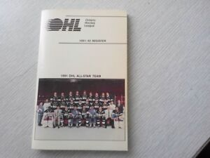 OHL-1991-92 register (Lindros in center)ex-mt cond