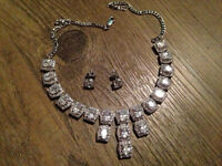 White Topaz Statement Necklace