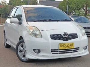 2006 Toyota Yaris NCP91R 06 Upgrade YRX White 4 Speed Automatic Hatchback Granville Parramatta Area Preview