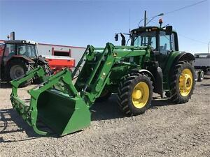JOHN DEERE 6170M TRACTOR w/H360 LOADER LIKE NEW