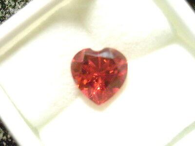 Lab Grown Heart Shape Ruby 10mm Lot of 10 Stones