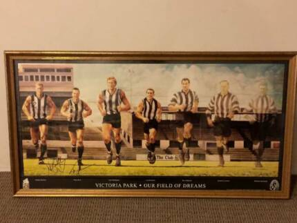 Collingwood FC Oil Painting, framed & signed - My Field of Dreams Maylands Bayswater Area Preview