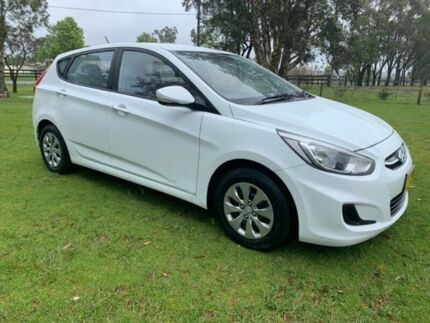 2016 Hyundai Accent RB3 MY16 Active White 6 Speed CVT Auto Sequential Hatchback Tuggerah Wyong Area Preview