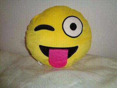 Smiley Smileys Zunge raus  Dekokissen  Kuschelkissen gelb 28 cm  rund NEU OVP (Smiley Zunge Raus)